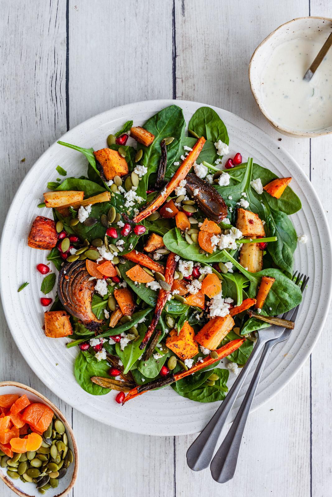 African spicy vegetable salad