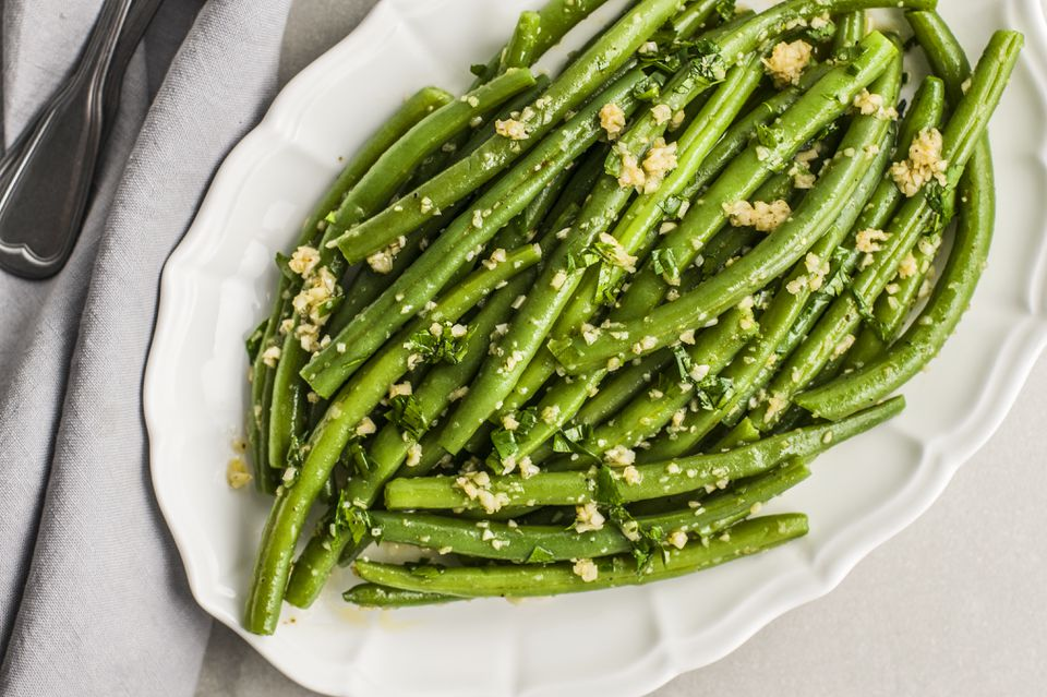 Green beans with garlic and cumin