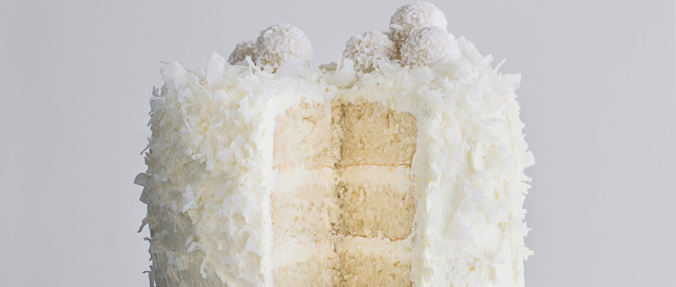 Snowflakes Coconut Rice Christmas Cake