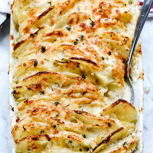 Perfect Potato gratin with Feta cheese
