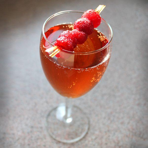 Cran-Raspberry Martini