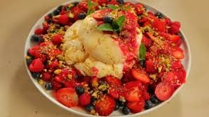 Luscious Labneh with berries