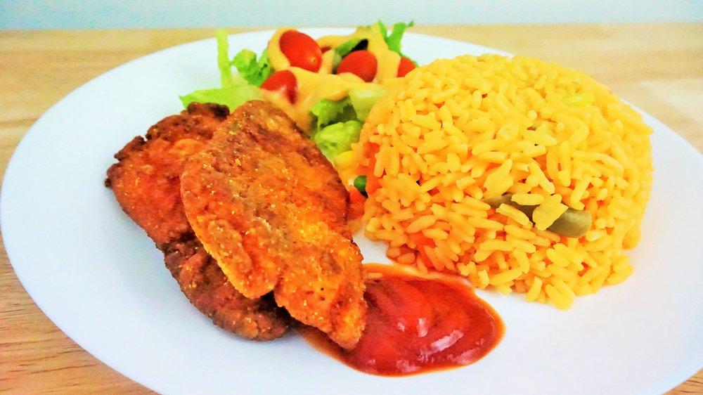 Caribbean fish and rice