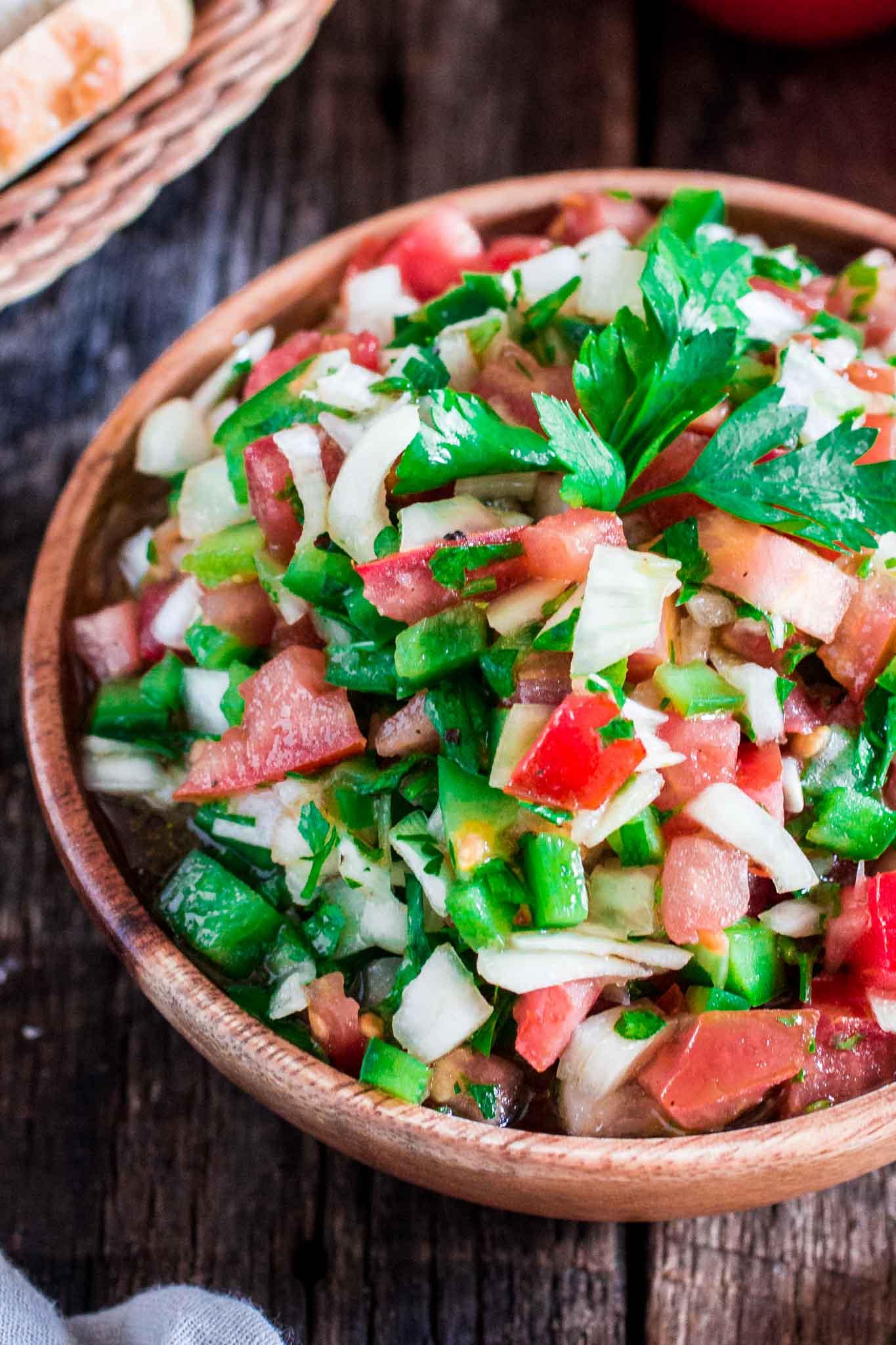 Vinagrete (Brazilian tomato salad)