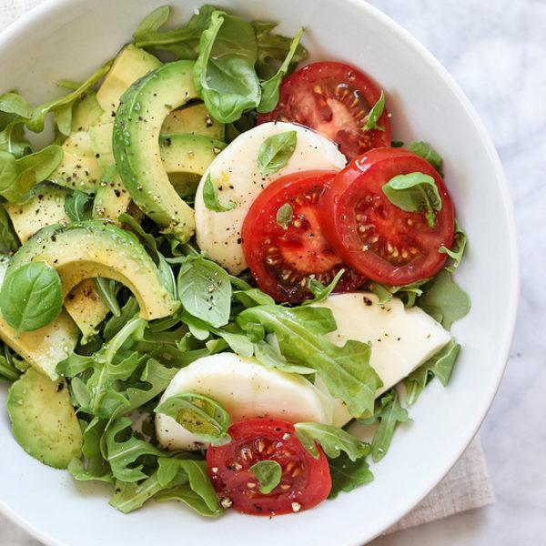 Simple avocado and tomato salad