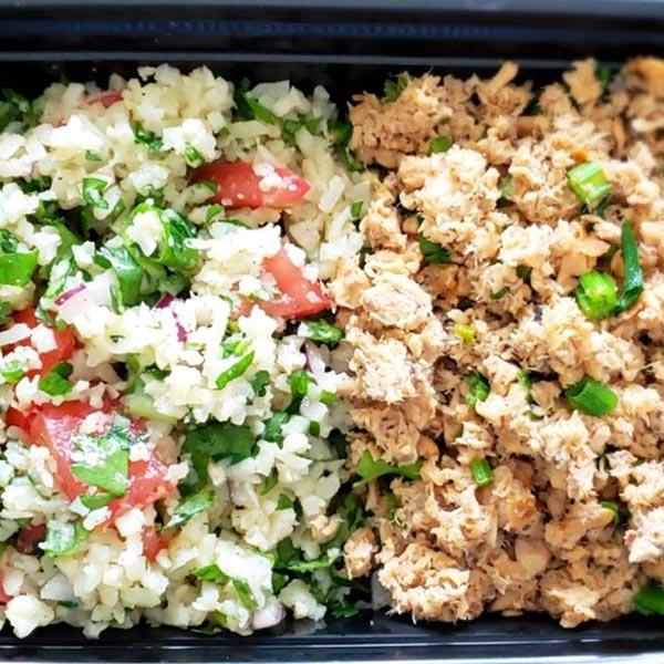 Chicken tabouli salad