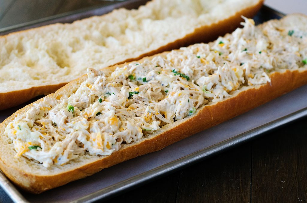 FRENCH BREAD STUFFED WITH CHICKEN