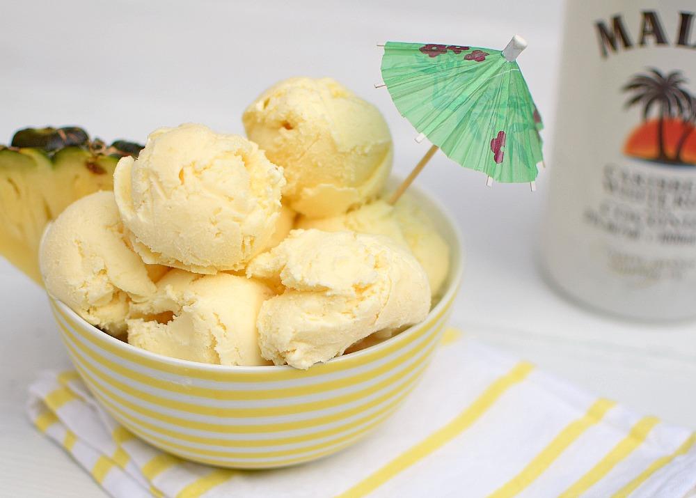 Pina Colada Ice Cream.
