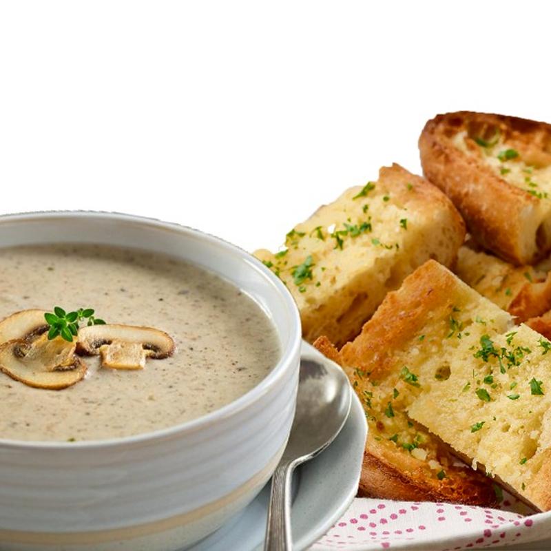 Creamy Mushroom Garlic Bread
