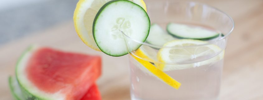 Watermelon and cucumber with a dash of lime