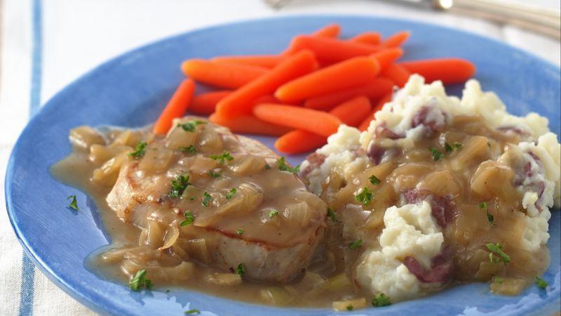 Pork Chops in Country Onion Gravy
