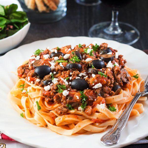 Greek Meat Pasta