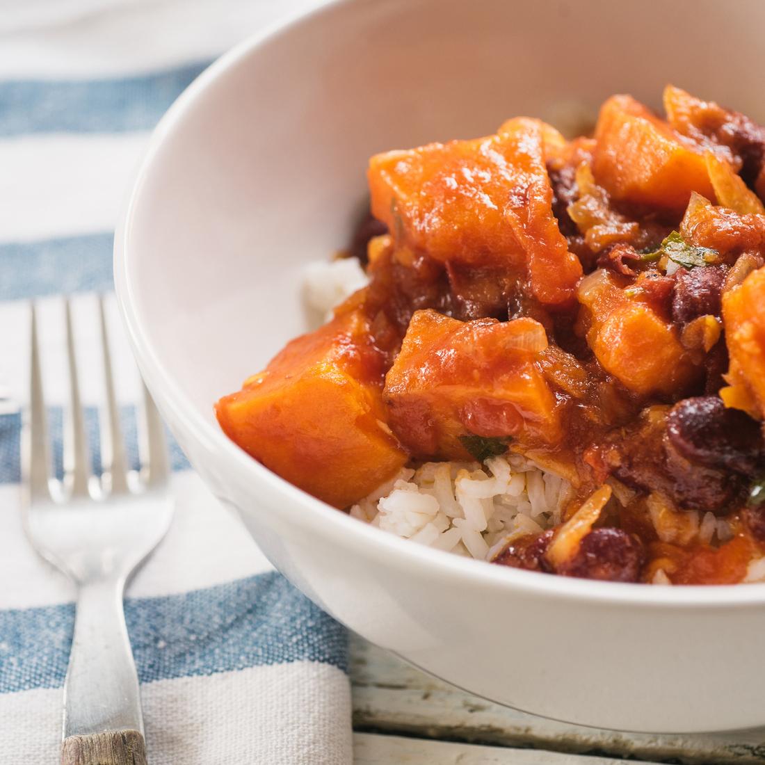 Sweet Potato Jerk and Black Bean Curry