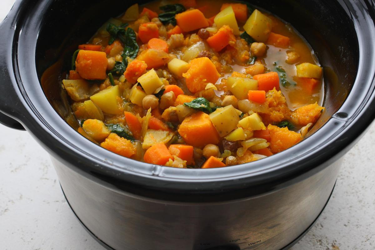Slow Cooker Root Vegetable Tagine