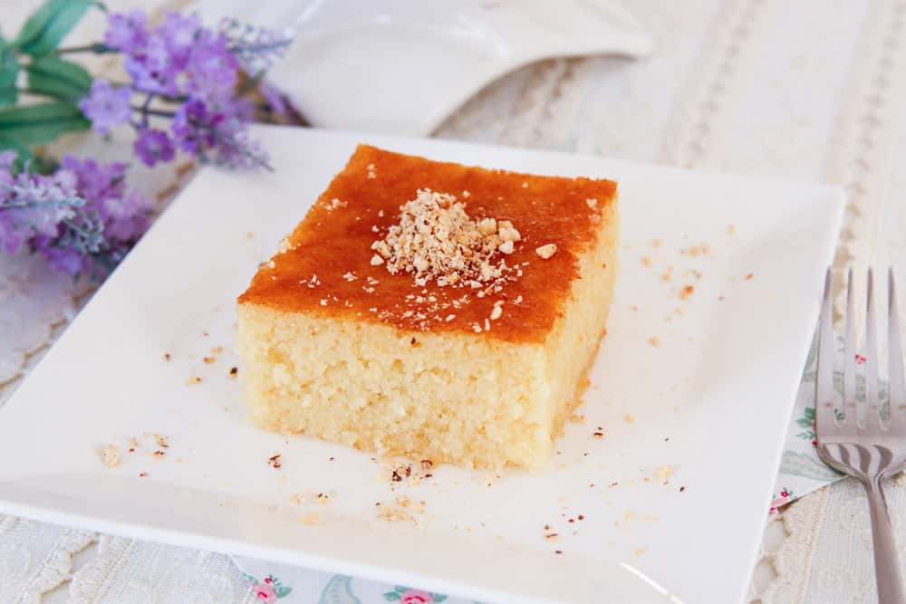 Semolina Cake Steeped In Syrup
